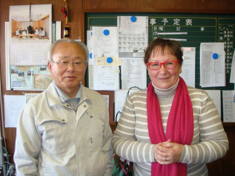 Janick Magne and former mayor of Futaba; Idogawa san  井戸川 双葉