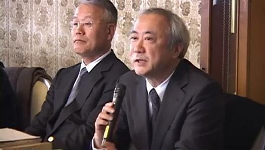 Dr Yamashita and Dr Suzuki of Fukushima Medical University