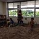 本宮市にある、スマイルキッズパーク  Indoor sandbox for children in Motomiyashi